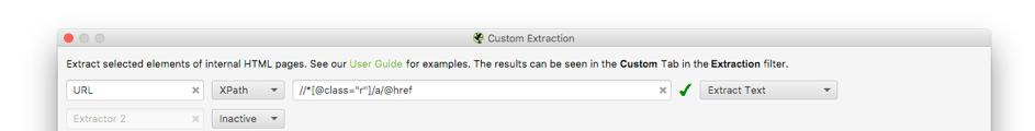 Screaming Frog - Custom Extraction - Google Scrape
